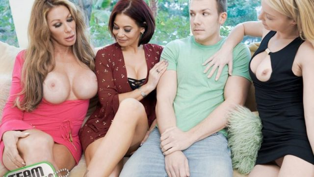 Farrah Dahl, Ryder Skye, and Laura Bently - The More BadMILFs the Better