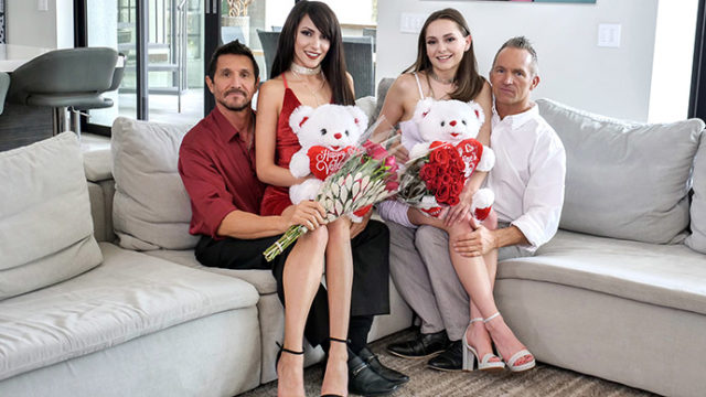 Aften Opal and Hime Marie - Valentines Day Daughter Orgy