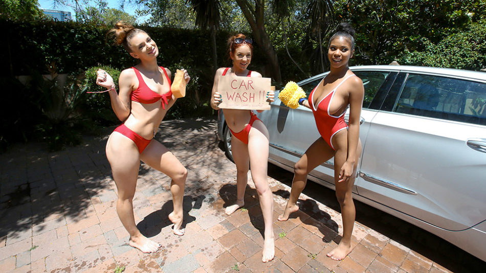 Jaycee Starr, Luna Light and Nia Nacci - Carwash Cuties