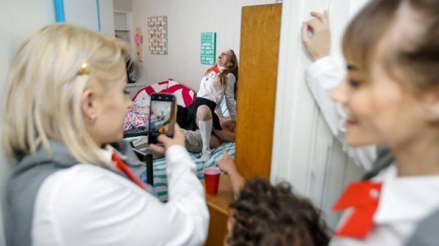 Goldie Glock, Nova Skies & Lana Sharapova - Dormitory Dickdown