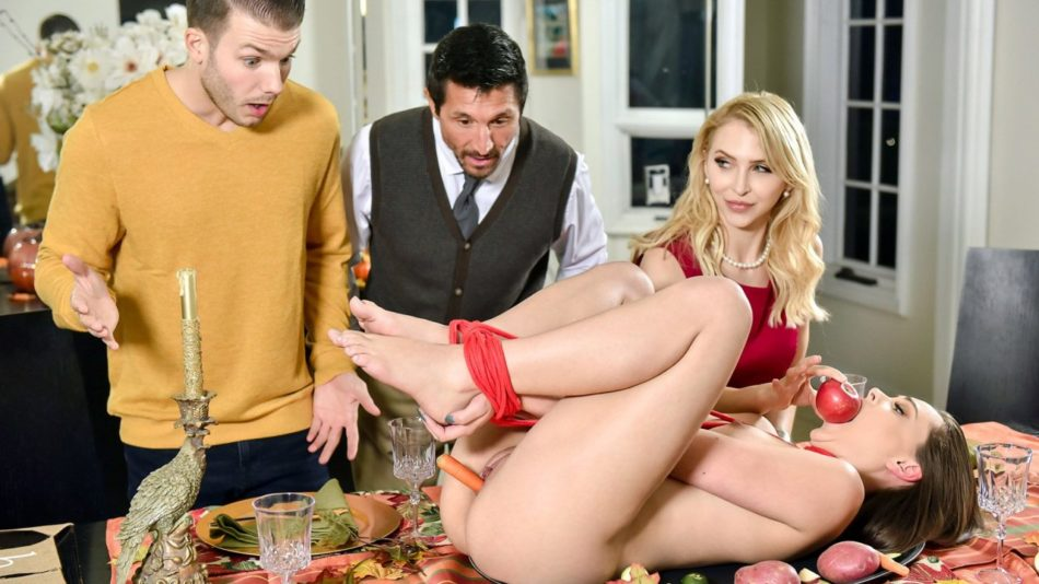 Alix Lynx and Aften Opal - Family Friendly Thanksgiving Fuck Fest